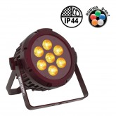 PAR SLIM 7x10W IP44 PENTA, power lighting, par led ip, deco, enseigne, music and lights, reims